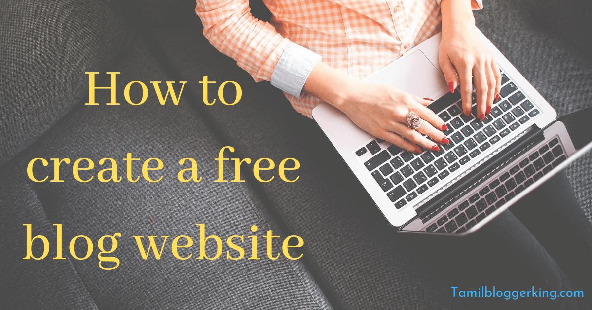 create blog website