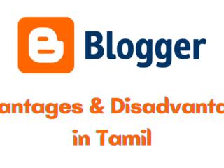 Blogger advantages and disadvantages